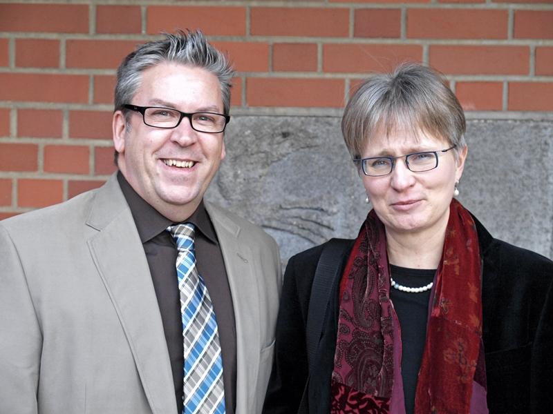Die neuen Polizeiseelsorger Anne Henning und Patrick Stöbener